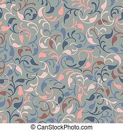 Fondo de patrones sin daños. Hojas rosadas y azules. Luz