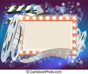 Fondo de películas de cine