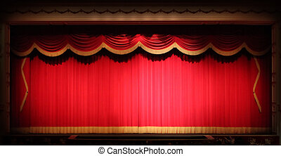 Fondo de teatro brillante con adornos amarillos