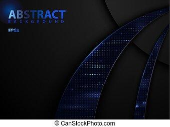 Fondo de tecnología abstracta oscura
