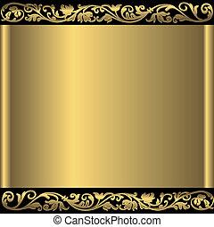 fondo dorado, resumen, (vector)