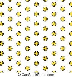 fondo., emoticon, patrón, cara, texture., seamless, sonriente, sonrisa, feliz, icono