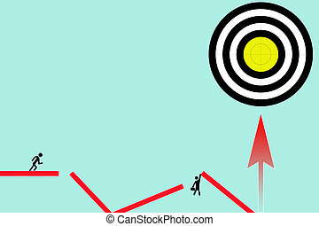 fondo., hecho, blanco, gráfico, shooting., negro, center., blanco, amarillo, arrows.