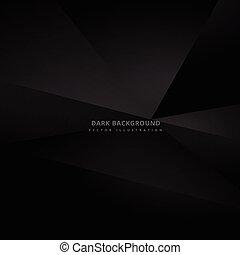 Fondo negro oscuro 3D