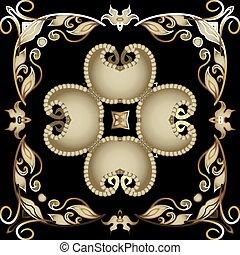 fondo., pattern., diseño decorativo, telón de fondo., tribal, flores, seamless, estilo, vendimia, fronteras, ornamental, étnico, floral, vector, hermoso, repetición, ornamento, cachemira, frame., leaves., florido, oriental