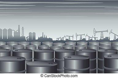 Fondo temático industrial. Ilustración de diseño de vectores