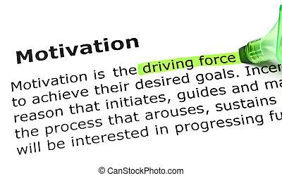 force', 'driving, 'motivation', debajo