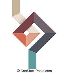 Forma abstracta geométrica para el diseño