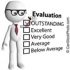 forma, cheque, caricatura, director, informe, evaluación, profesor