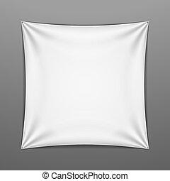 forma, cuadrado, blanco, estirado