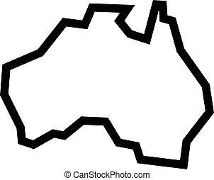 Forma de geografía de Australia
