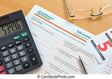 Forma de impuestos para el empleo