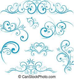 Forma de pergamino azul