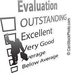 forma, empresa / negocio, subidas, arriba, mejora, empleado, evaluación