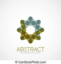 Forma geométrica simétrica abstracta