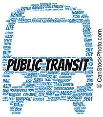 forma, palabra, tránsito, nube, público