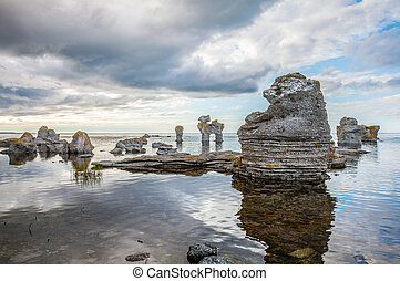 Formación rocosa en Gotland
