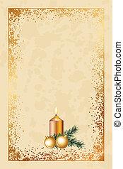formado, viejo, tarjeta de navidad