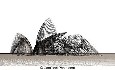 formas, contemporáneo, arquitectónico