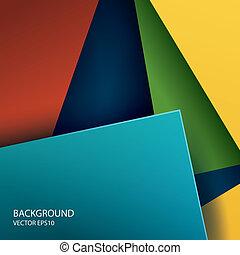 Formas cuadradas de papel abstractos
