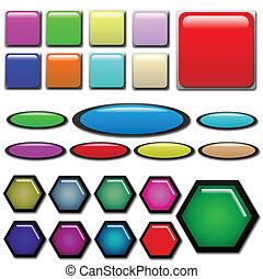 Formas de botones Web