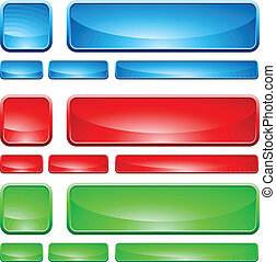 Formas de vidrio, botón