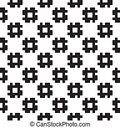 Formas negras, estructura a cuadros, fondo sin marcas 2