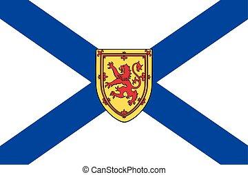 formato, vector, scotia, provincia, nova, canada., bandera