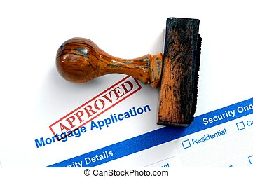 Formulario de hipoteca aprobado