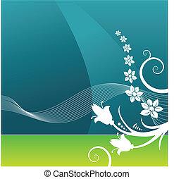 Formularios de vector floral grunge