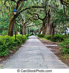 Forsyth Park en Savannah, GA