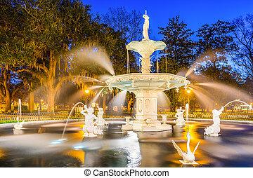 Forsyth Park en Savannah Georgia