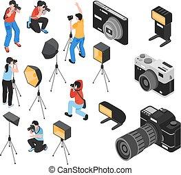 Fotógrafo profesional de isometría