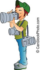 Fotógrafo profesional, ilustración