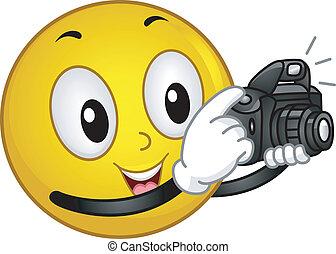 fotógrafo, smiley