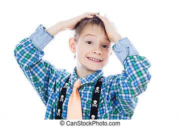 Foto de adorable niño feliz