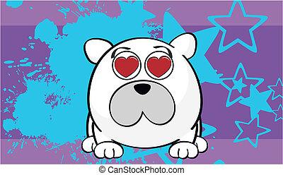 Foto de dibujos animados de oso polar