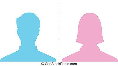 Foto de perfil masculino y femenino