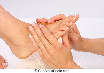 Foto de tratamiento de belleza - masaje de pies