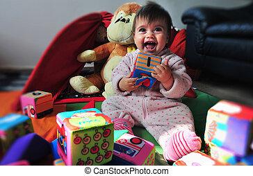 Foto del concepto, vida de bebé