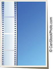 Foto en blanco, plantilla de video