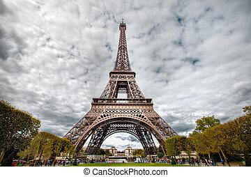 Foto HDR de la torre de eifel