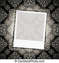 Foto instantánea de papel tapiz floral