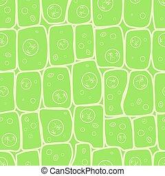 Foto Macro de la estructura de las células vegetales, patrón ecológico