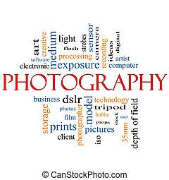 Fotografía concepto de nube de palabras