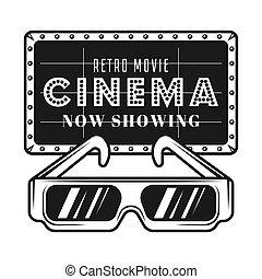 Fotografía de cine y gafas 3D objetos vectoriales