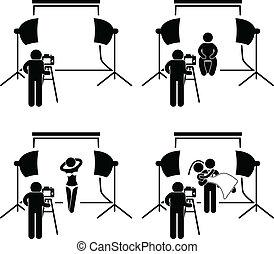 Fotografía del estudio de fotografía