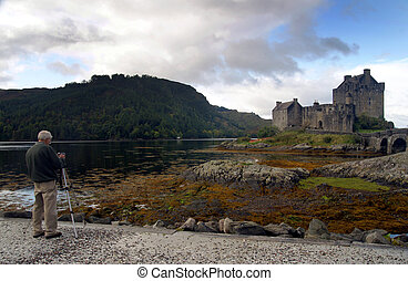 Fotografiando castillo escénico