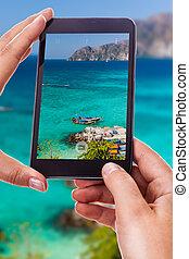 Fotografiando un mar tropical