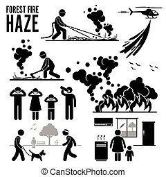 Fotograma de fuego de Haze Forest